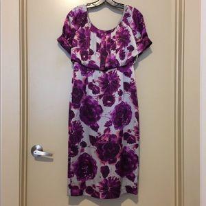 Floral, Tea-Length Dress